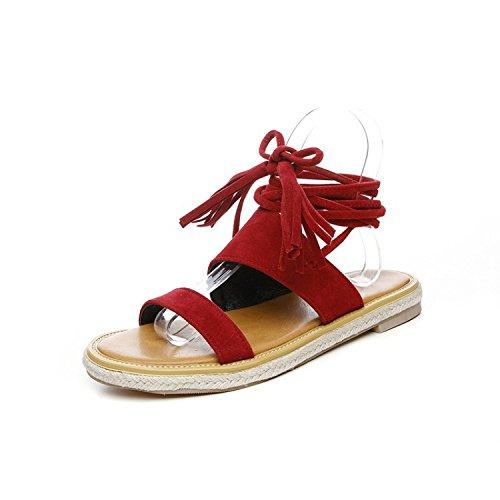El Colegio es una base plana correa casual sandalias de mujer red