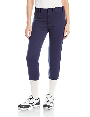 Mizuno Women's Select Belted Piped Pant (Navy/White, XX-Large)