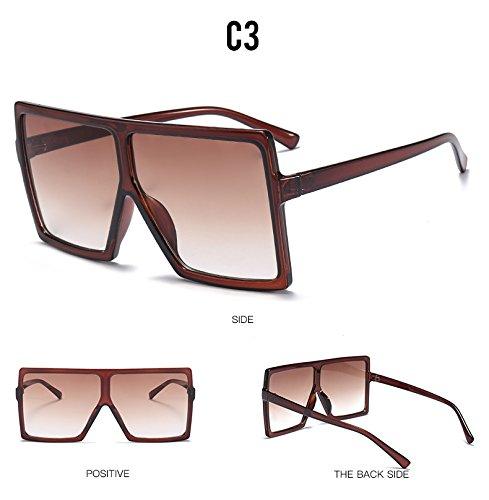 TL-Sunglasses Oversized occhiali da sole Occhiali da sole donne piazze uomini così lente a gradiente sfumature donna UV400,C7
