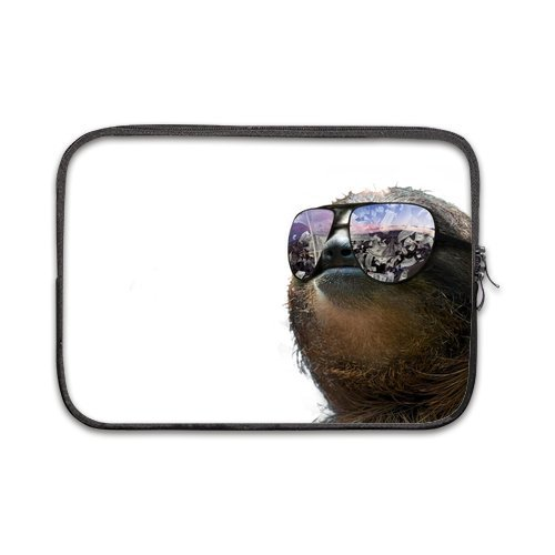 Hipster Sloth Wearing Sunglasses 100% Water Resistant Sleeve for Macbook Pro 12