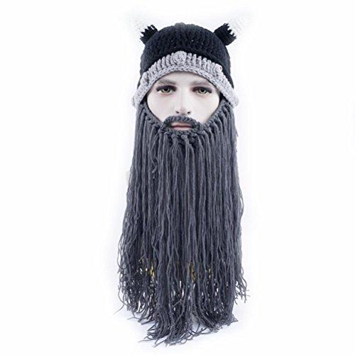 Vagabond Sombreros Gorras Gorras Invierno Beanie Bearded Gracioso gris Gorros Punto Halloween Unisex De 6nzwg
