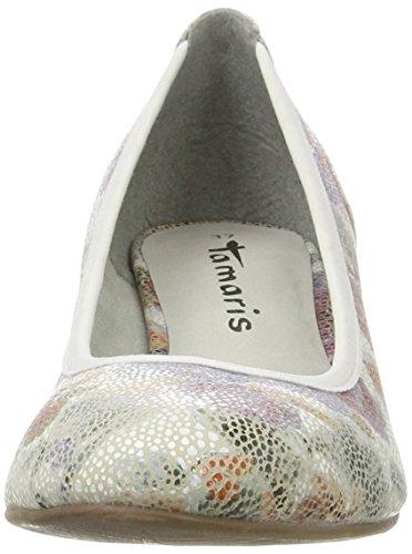 Flow Multicolore Tamaris Femme 124 Escarpins Comb 22304 Noir EU Wht 38 q7Z8wq