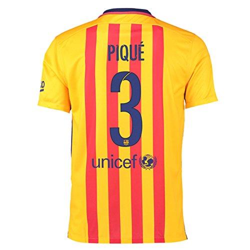 (2015-16 Barcelona Away Football Soccer T-Shirt Jersey (Gerard Pique 3))