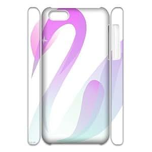 C-Y-F-CASE DIY Design Love Heart Swan Pattern Phone Case For iPhone 5C