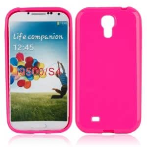 Solid TPU Protective Case for Samsung i9500 Rose Red