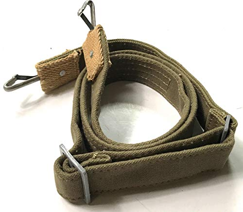 WWII GERMAN M31 TROPICAL WEB BREAD BAG CARRY SLING STRAP-GREEN -