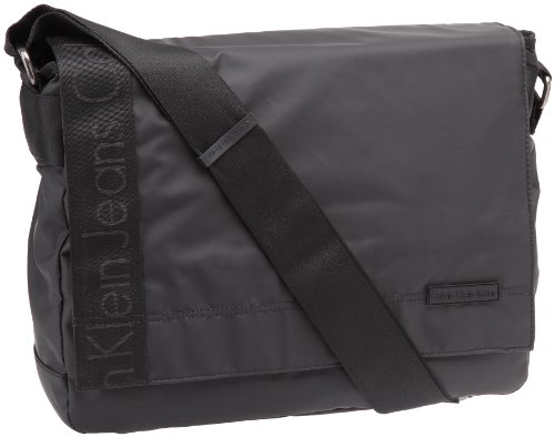 Calvin Klein Jeans Urban CCS007 C5S - Bolsa de mensajero para hombre, color negro, talla 38x30x12 cm