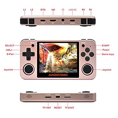 Elikliv Express RG350M Upgraded RG350 Video Game Handheld Console - 2500 Games 32GB SD: Toys & Games