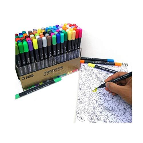 Marcador de doble pincel de acuarela Puntas suaves y flexibles para mezclar dibujos como Aquarelle Calligraphy Pen Anime Comic Markers (48 colores)