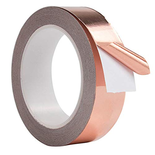 Lakote 30mm*4m Conductive Slug Tapes with Single Adhesive Copper Foil Tape EMI Repellent Shield Strip for Guitar