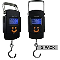 PARTYSAVING [2-Pack] Hanging Electronic Travel Scale for Luggage with Digital LCD Screen, APL1439