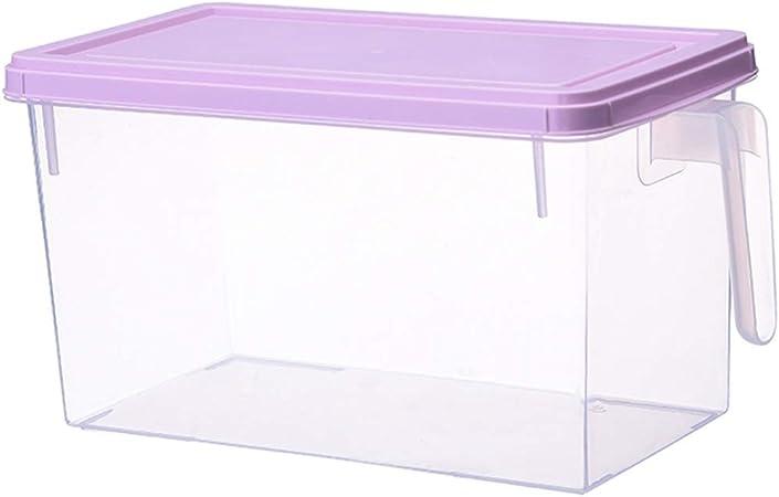 Qks Cocina Cajas de Almacenamiento de plástico para Verduras y Frutas Organizador de Almacenamiento Restaurante Comida Varios Granos Caja Fresca,Púrpura,2 Pieces: Amazon.es: Hogar