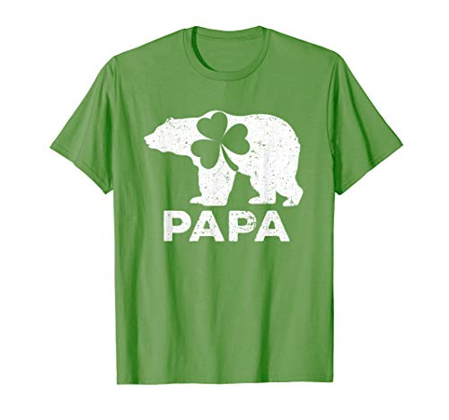 Papa Bear Shamrock Green Shirt St Patrick's Day ()