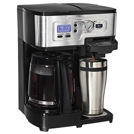 Hamilton Beach 49983C 12-Cup Deluxe 2-Way Programmable Coffeemaker, Black and Stainless Steel
