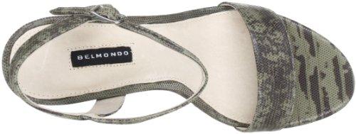 Belmondo 229651/M - Sandalias de cuero para mujer Verde (Grün (khaki combi))