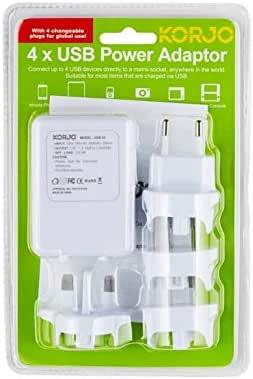KORJO International Power Adapter, 10 Centimeters, White