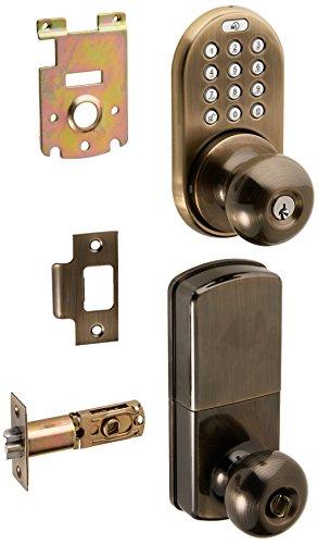 MiLocks XKK-02AQ Digital Door Knob Lock with Keyless Entry via Remote Control and Keypad Code for Interior Doors MiLocks