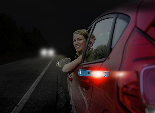 SAFE BRIGHT Magnetic CREE 3-in-1 LED Flashlight Lantern with Holster, adjustable focus, Titanium Grey