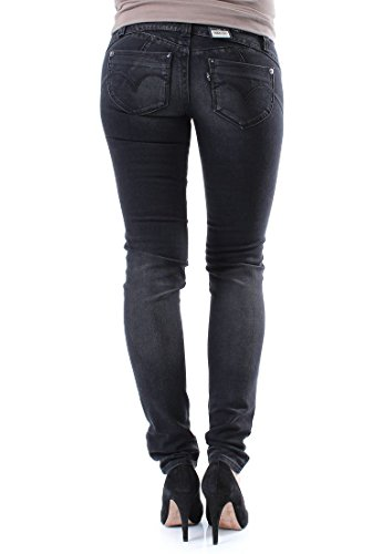 Levis Jeans Women REVEL LOW DEMI CURVE SKINNY 15436-0018 Midnight Black, Hosengröße:31/34