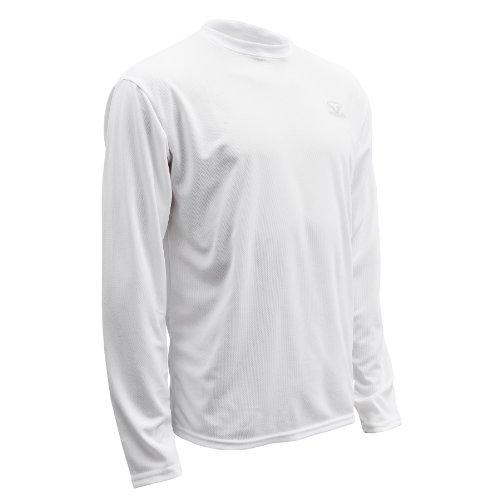 Sleeve Hockey Long Skates (Tour Hockey Dri-Corr Phase 1 Long Sleeve Shirt (White, Small))