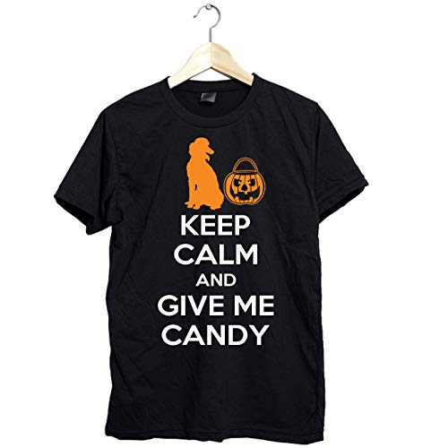 Amazing Poodle shirt - Keep Calm and Give Me Candy - Funny Gift for Poodle Mom this Halloween- Unisex Style Size Up to 6XL - Fast Shipping -