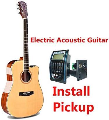Guitarra de cuerpo en D de 104 cm, 6 cuerdas, guitarra acústica ...