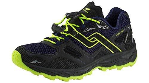 Pro Touch Trail-Run-Schuh Ridgerunner Iv Aqb Jr - schwarz/navy/gelb, Größe:35