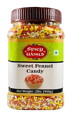 - Spicy World Sugar Coated Fennel Seeds Candy - 2 Pound Jar (32oz, 908g) Bulk