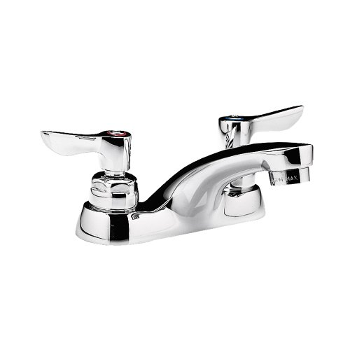 American Standard 5502.145.002 Monterrey 0.5 Gpm Centerset Lavatory Faucet with VR Metal Lever Handles and Grid Drain, Polished Chrome - Npt In Line Vacuum Breaker