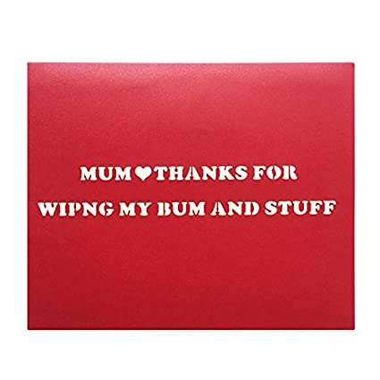 Amazon Funny Birthday Card For Mum 3d Pop Up Rose Mothers