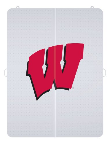 NCAA Wisconsin Badgers Logo Foldable Hard Floor Chairmat