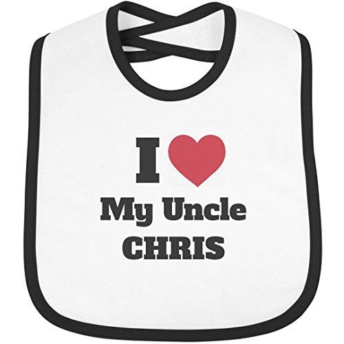 I Heart My Uncle Chris: Infant Rabbit Skins Contrast Trim Bib