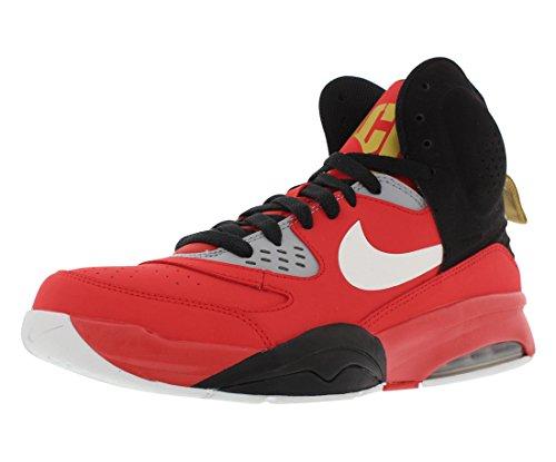 Nike Air Ultimate Force Men's Basketball Shoes Size US 9.5, Regular Width, Color Orange/Black/Grey/Yellow/White
