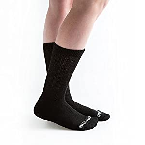 Doc Ortho Ultra Soft Loose Fit Diabetic Crew Socks, 6 Pairs