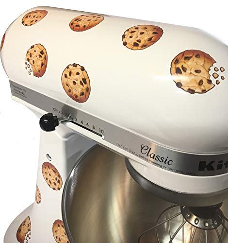 Cookie sticker kit for mixers. 12 chocolate chip cookie decals for KitchenAid Artisan stand mixer. cookie kit CMC