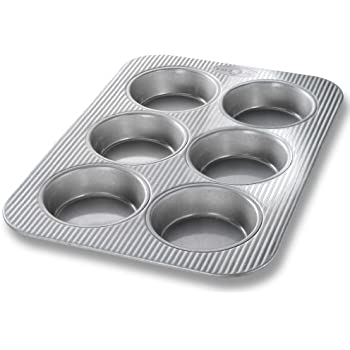 USA Pan Bakeware Mini Round Cake Pans, 6 Well, Nonstick & Quick Release Coating, Made in the USA from Aluminized Steel