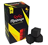 COCOMAZAYA CUBE COCONUT CHARCOAL SUPPLIES FOR HOOKAHS – 96pc Non-quick light shisha coals for hookah pipes. All-natural coal accessories & parts that are Tasteless, Odorless, & Chemical-free.