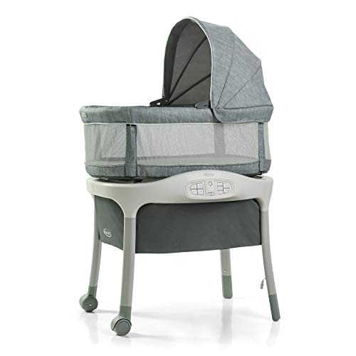 Graco Move 'n Soothe Bassinet | Baby Bassinet with Movement, Vibration and Sound Settings to Help Soothe Baby, Mullaly