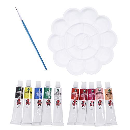 Frcolor 12Pcs Face Paint Kit Body Paint Palette Premium Artist Paints Set Body Paint Halloween Makeup with Brush