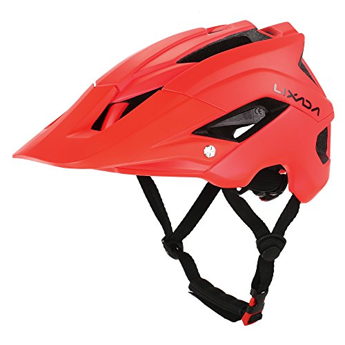 Lixada Mountain Bike Helmet Ultralight Adjustable MTB Cycling Bicycle Helmet Men Women Sports Outdoor Safety Helmet with 13 Vents (Red)