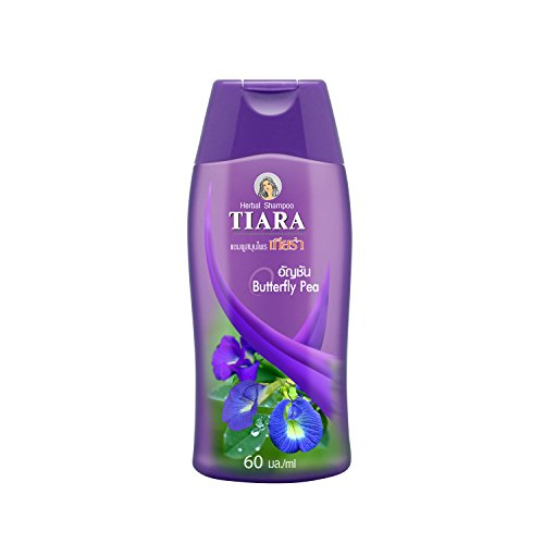 Tiara Herbal Shampoo Butterfly Pea – Natural Herb Gentle Hair Wash : 60ml
