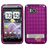 MYBAT Hot Pink Argyle Pane Candy Skin Cover compatible with HTC ADR6400 (Thunderbolt)
