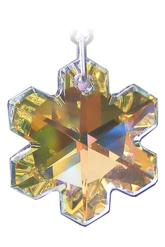 5b8ea4729 Swarovski Hanging Crystal Suncatcher/Rainbow Maker with 25mm Aurora Borealis  Snowflake Crystal: Amazon.co.uk: Kitchen & Home