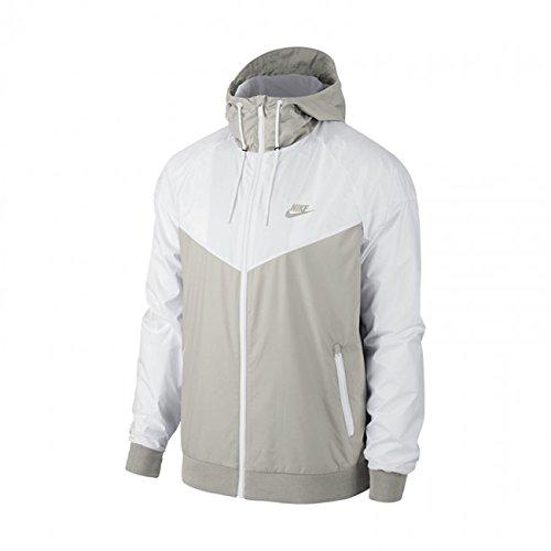 Nike Mens Windrunner Hooded Track Jacket Light Bone/White 727324-073 Size Large