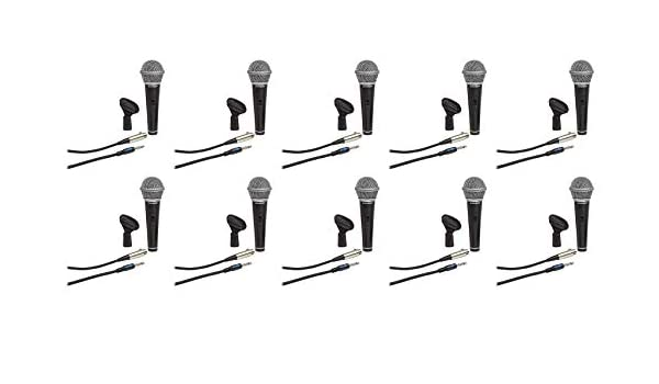Samson R21S Dynamic Cardiod Handheld Microphone+Mic Clip+Cable+3.5mm adapter