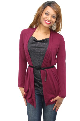 (AGB Top, Long Sleeve Belted Layered Look (Large, Pat J))