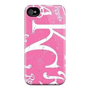 EricHowe Iphone 4/4s Bumper Cell-phone Hard Cover Custom Realistic Kansas City Royals Pattern [Vze2519zIdN]