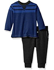 Splendid Boys' Striped Crew Top with Pant Set