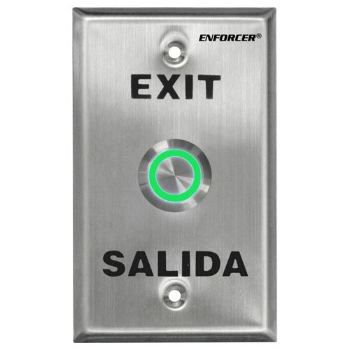 Seco-Larm Enforcer Push-To-Exit Plate SD-7275SGEX1Q Vandal Resistant Illuminated
