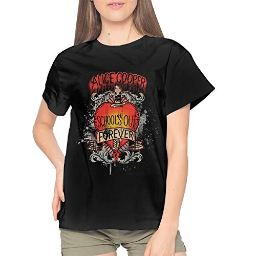 Alice Cooper Women Trend Tshirts M Black (Youth Cooper T-shirt)